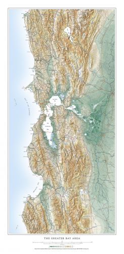 Greater Bay Area Elevation Tints Map Wall Maps The federal tax bill, passed in december 2017, allows investors to defer or eliminate capital gains on investments made in opportunity zones. greater bay area