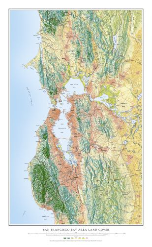 photo regarding Printable Map of San Francisco called San Francisco Bay Community Land Protect