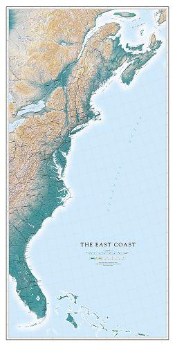 East Coast Map | Fine Art Print Map