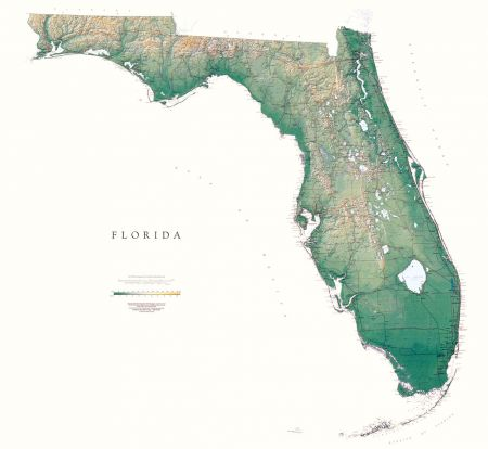 USA States Maps Lithography And Fine Art Prints Raven Maps - Map of florida usa