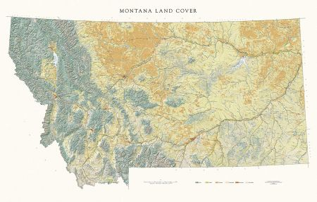 photograph about Printable Map of Montana referred to as Montana - Land Protect Map