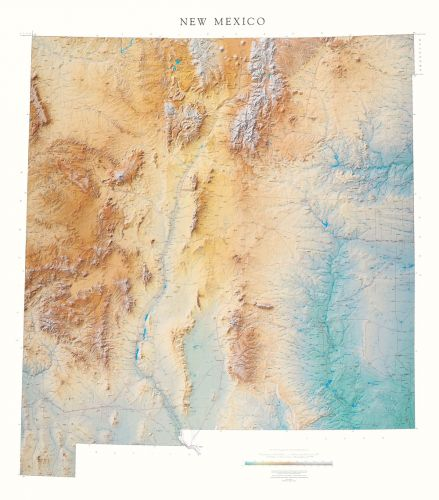 New Mexico Elevation Tints Map | Beautiful Artistic Maps