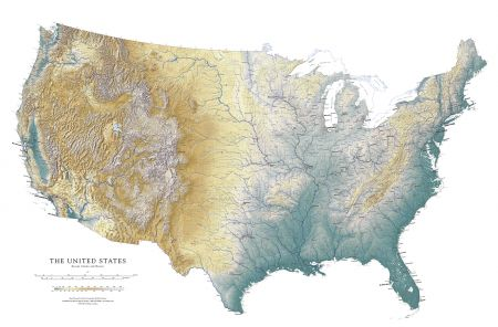 United States - Elevation Tint Map