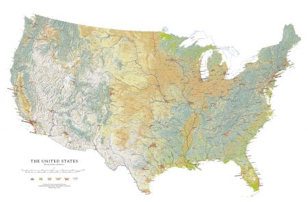 Wall Map Of USA Raven Maps Images - Us map patterns
