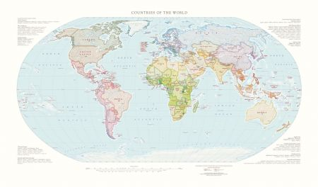 Countries of the world concise wall maps fine art print countries of the world map concise fine art print gumiabroncs Images