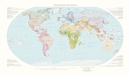 Large World Map Posters Fine Art Prints Raven Maps - Large world map