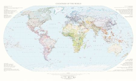 Countries of the world wall maps fine art print countries of the world map fine art print gumiabroncs Images