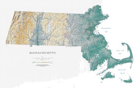 image regarding Printable Map of Massachusetts named Machusetts Map