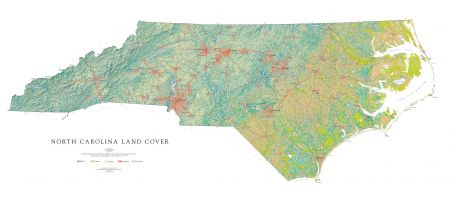 photograph relating to Printable Map of North Carolina identified as North Carolina - Land Include Map