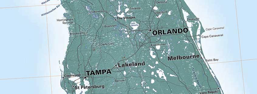 Map Florida City Names.Names On Maps
